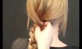 How to braid long hair with Redken product singature look.