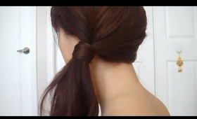 Low Ponytail Bobby Pin Trick