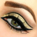 Golden eye makeup