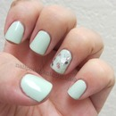 China Glaze Re-Fresh Mint, and Seche Collage Overlay