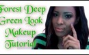 Makeup Tutorial:  Deep Green Forest Makeup Tutorial