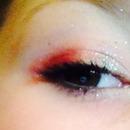 Smokey eyes- red+beige