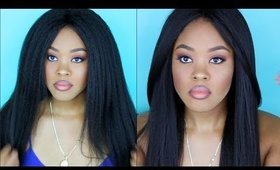 Kinky to Straight from Start to Finish | Yaki Hair