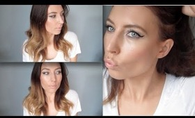 quick makeup look | grey shadow and black eyeliner