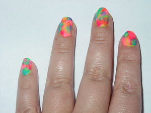 my take on neon colors