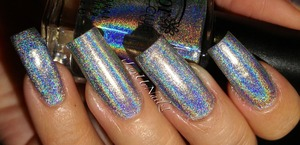 A silver holo at its best...this is one coat with no top coat
