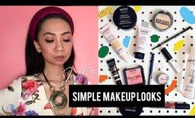 One brand makeup looks| simple makeup looks | nyx cosmetics