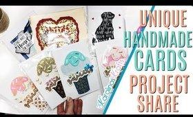 Card Making Project Share 2, Ice Cream Cards, Quarantine Card Idea, Funny Magic Iris Card