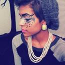 Funky eye makeup!
