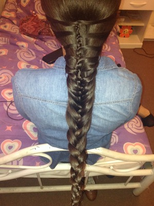 The braid i did today on my best friend <3