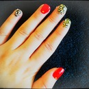 Red and gold leopard