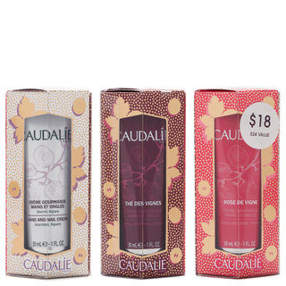 Caudalie Hand + Nail Cream Trio Set