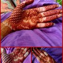mehendi on eid day :)
