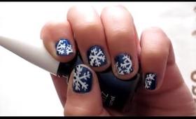 ❄ NAIL ART: SNOW FLAKES! ❄