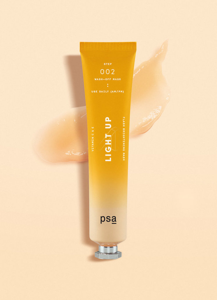 Alternate product image for Light Up: Vitamin C & E Flash Brightening Mask shown with the description.