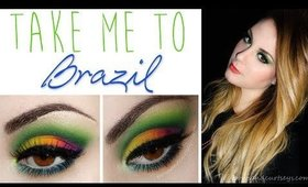 """Take Me to Brazil"" - Bright & Colorful Makeup Tutorial"