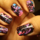 Splatter Nail Art