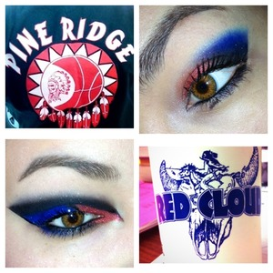 Did a rivalry makeup look
