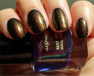 See more swatches & my review here: http://www.swatchandlearn.com/max-factor-fantasy-fire-swatches-review-layered-over-china-glaze-liquid-leather/