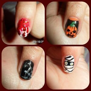 Uñas terroríficas para halloween
