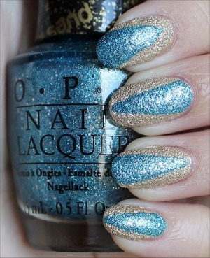 Both polishes are Liquid Sands from the OPI Bond Girls Collection. See more of my swatches here: http://www.swatchandlearn.com/nail-art-opi-liquid-sand-nails-with-tiffany-case-honey-ryder/