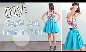 DIY: Rorschach Camisole {T-Shirt Upcycle}