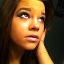 Smoky eye, light pink lip and big brows!