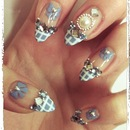 Blue Hime/ Gyaru nails