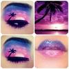 Sunset Eye Painting