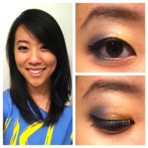 FOTD 11/19/11 :D blue&gold bruin colors<3  http://sparklethat.blogspot.com/2011/11/fotd-111911.html