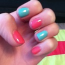 """Wet n Wild Megalast's """"I Need a Refresh-Mint"""" and """"Candy-licious"""". Done by myself!!"""