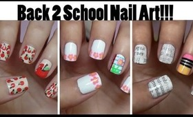 Back To School Nails!!! Three Easy Designs!