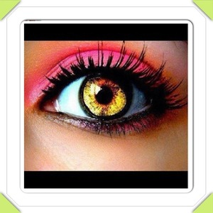 Kathalynn's colorful eye contacts and eye shadow #2