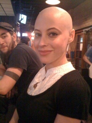 This is really me and my shaved my head. I did it in support of a friend that had to shave hers because of chemo.