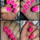 hot pink gel