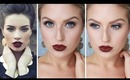 Glam Fall/Autumn Makeup ♡ Bold Dark Red Lips - Shaaanxo