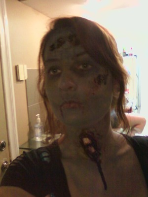 - same zombie stuff as the other picture but I threw in a neck piece for no other reason than it looked gross.