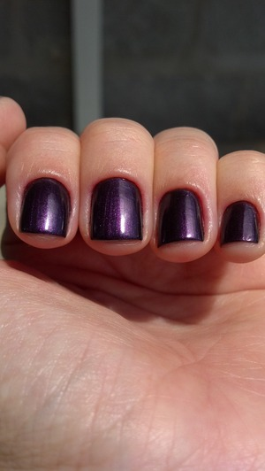 Beautiful purple with a red shimmer.