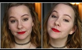 Holiday Makeup Tutorial | Classic Red Lip & Gold Eyes