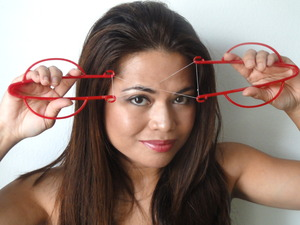 You, too, can thread at home with the Helix ThreadEase hair threading tool! www.helixhairthreading.com