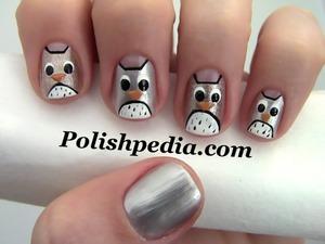 I love my nails!  Watch My Video Tutorial @ http://polishpedia.com/owl-nail-art.html