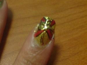X-Mas Ribbon Nails 2011