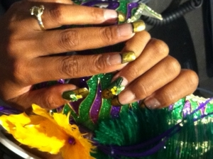 Went to see ZARKANA @ Radio City today and my Mardi Gras mask inspired me to do this design for today's festivities.