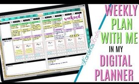 Setting up Weekly Digital Plan With Me March 30 to April 5 PROCESS, Plan With Me Process Video