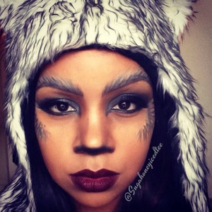 Black,white and grey eye pencils used to create this look. Follow me on Instagram @sugahoneyicedtee
