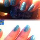 Blue giltter