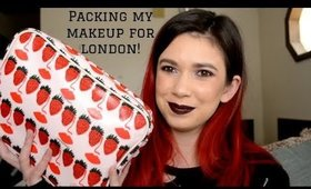 Packing My Makeup For London! | Alexis Danielle