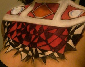 The chest piece I did for my contest look. Just to help you see it more clearly.