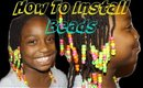 How To Install Beads on Cornrows Cute Styles for kids    Vicariously Me