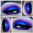 Purple & blue eyeshadow